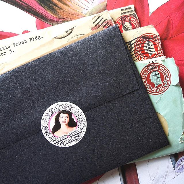 Add a little fun to your #snailmail with this #pin-up inspired envelope seals. Dug up from the early days of Letter Parade. ✨🌟LIMITED SUPPLY AVAILABLE 🌟✨ 🛒 shop these at letterparade.com 🛒