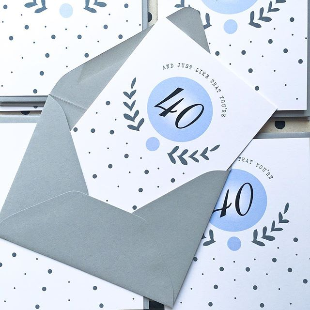 Milestone birthday card in our monogram design available in 20, 40, 30 as well as 50 💌📦 • • • 🛎 RETAIL // $4 at letterparade.com 🛎 WHOLESALE // only 18-Card/3-design minimum to open an account with us! ©️copyright 2018 Letter Parade