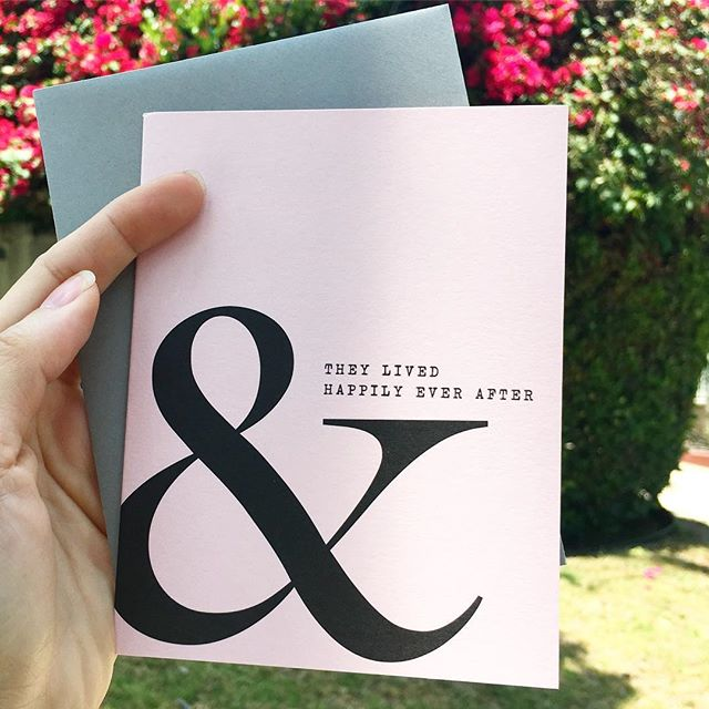 Wedding season is here! 💍👫👭👬❤️ our ampersand greeting card might just be your type! • • • 🛎 RETAIL // $4 at letterparade.com 🛎 WHOLESALE // only 18-Card/3-design minimum to open an account with us! ©️copyright 2018 Letter Parade