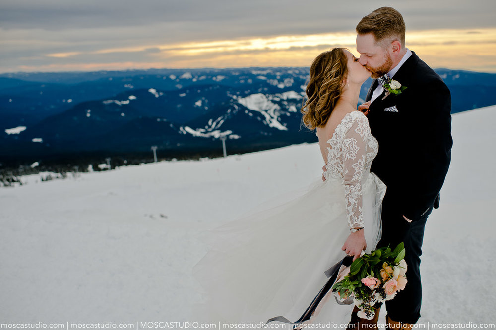 January 13 | Silcox Hut, Oregon    Meghan & James  Getting ready: Timberline Lodge Ceremony & Reception: Silcox Hut   Photography by Alice of MoscaStudio