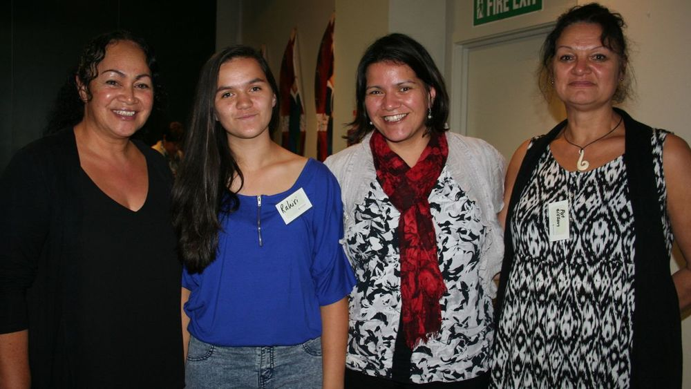 Marama Takao, Rahiri Edwards, Hinerangi Edwards and Pat
