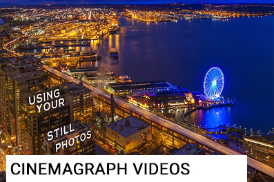 CINEMAGRAPH VIDEOS - For you social media mavericks, transform your finished Clarity photos into a realistic 3D video.