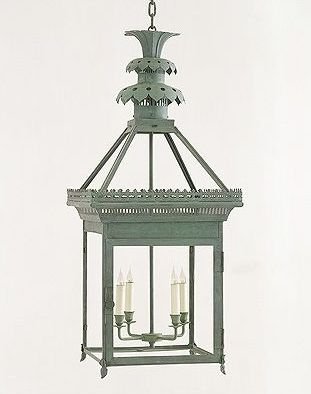 Charles Edwards Pineapple ceiling lantern, found  here