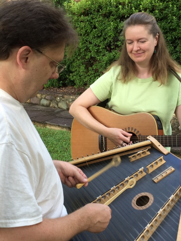 Playing traditional Appalachian & Celtic tunes with my band mate, Jim Plitt, in our duo   Confluence  .