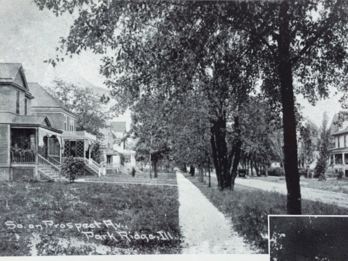 2nd from left, Goudy's house on Prospect Street, Park Ridge (IL)