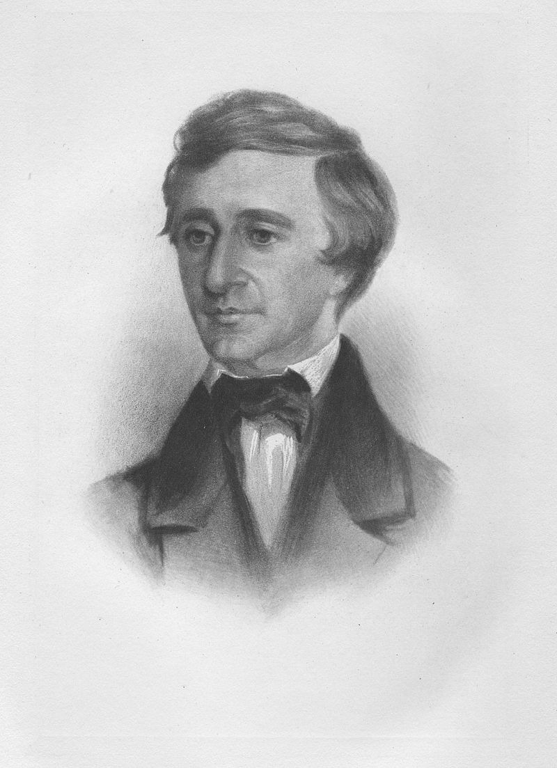Henry David Thoreau in 1854.