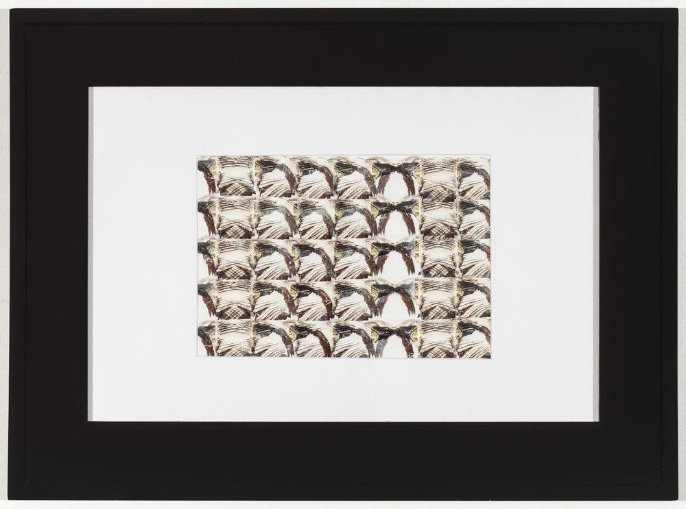 Modulating Rauschenberg 2014 Laserprint collage on paper 7 in x 10.5 in