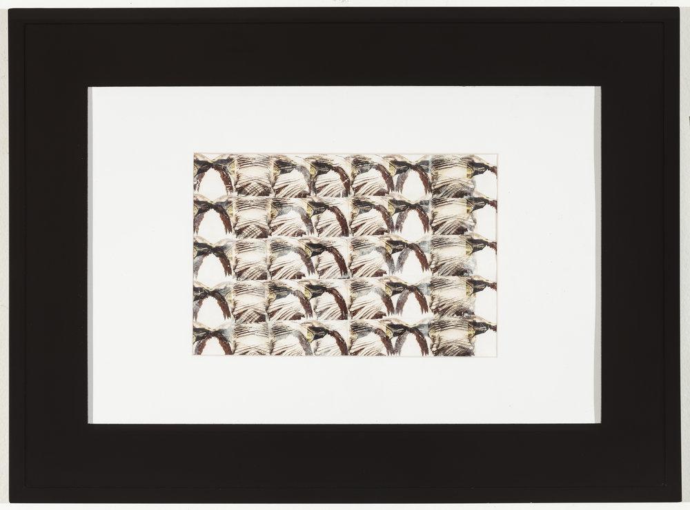 Modulating Rauschenberg II 2014 Laserprint collage on paper 7 in x 10.5 in $520