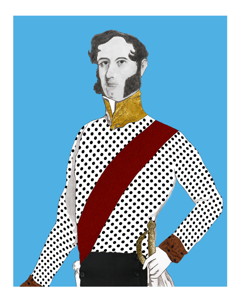 The Duke on Blue Giclée print 10 in x 8 in Edition of 25