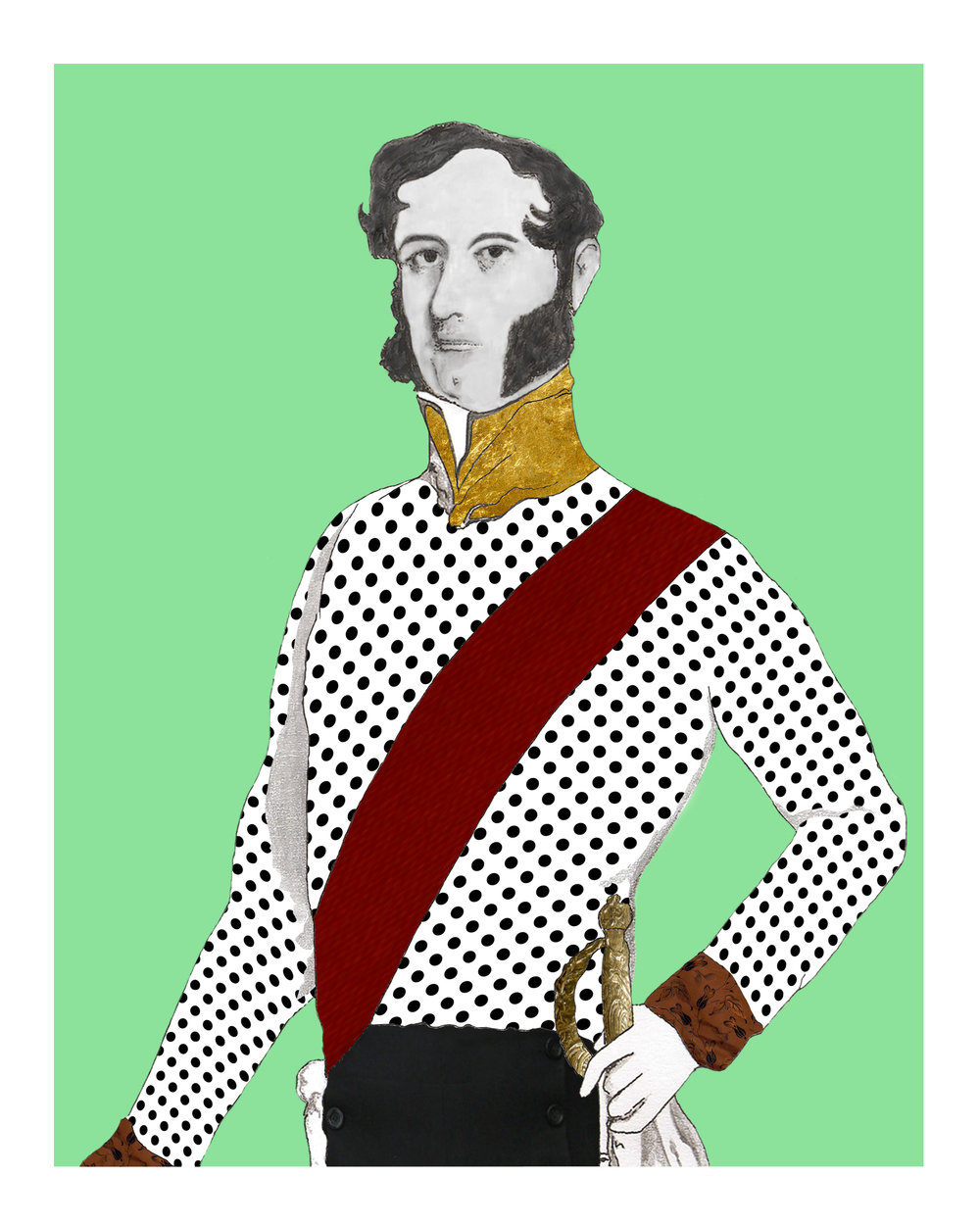 The Duke on Green Giclée print 10 in x 8 in Edition of 25