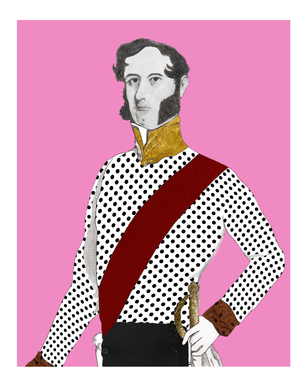 The Duke on Pink Giclée print 10 in x 8 in Edition of 25