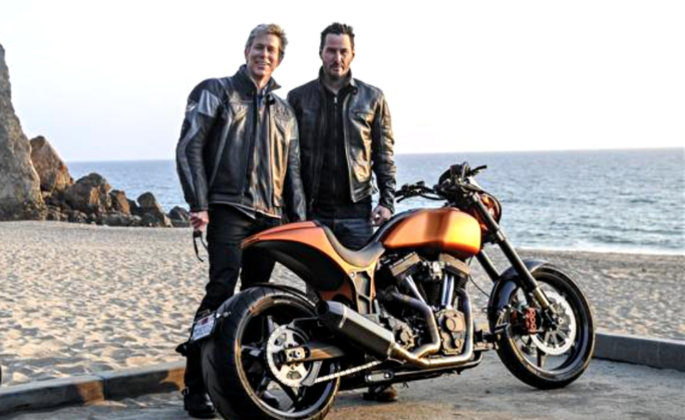 WSJ's Dan Neil test drives the KRGT-1, the first motorcycle from Keanu Reeves' new boutique brand, Arch Motorcycles. Photo: Barry Hathaway
