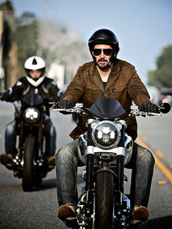 Keanu Reeves on an Arch bike.