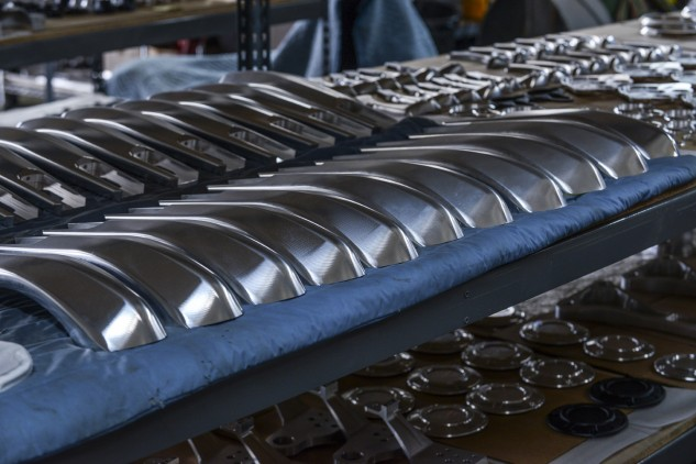 The Arch KRGT-1's swingarm is also constructed from billet, the five pieces getting shot-peened and anodized before assembly into an 18-lb component that resists flex.