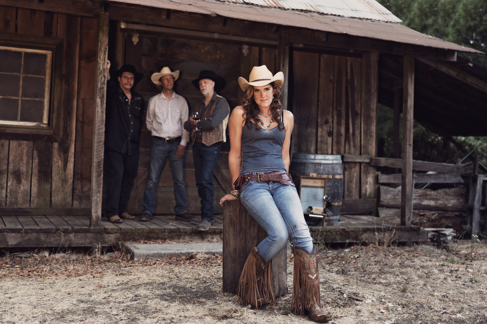 April Moore and Ranch Party-Briceland Vineyards- Briceland-California-Vineyard-Rustic Barn-Rustic-Vintage-Country Western-Country-Western-Barn-Band-Singer-Songwriter-Musicians-Music-Cowgirl-Cowboys
