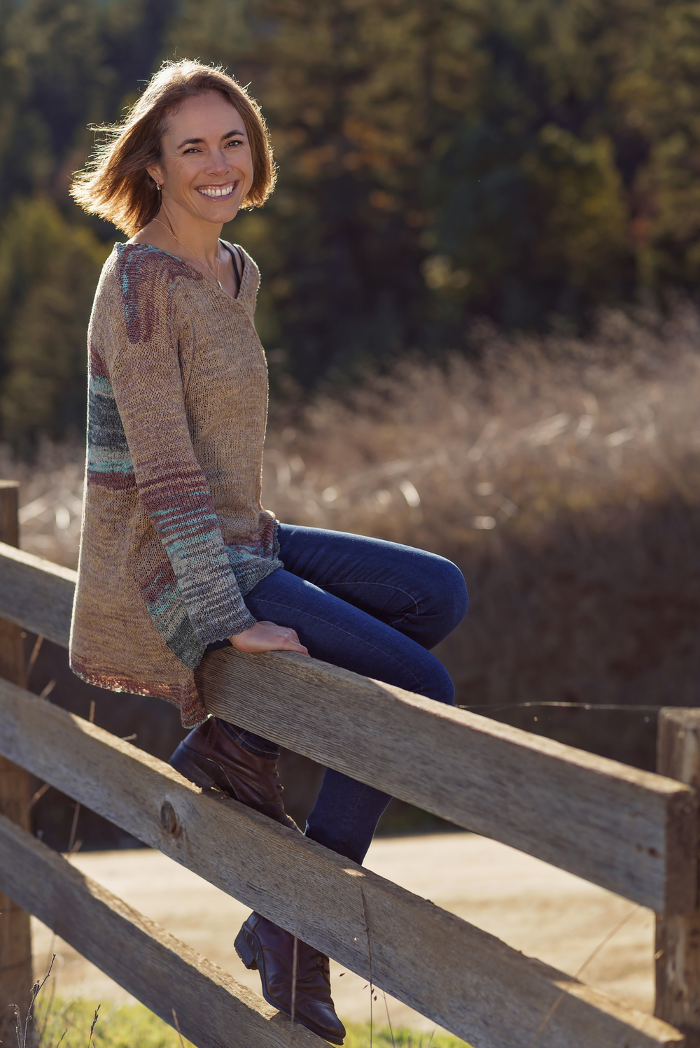 Fierce-Happy-Smile-Fence-Country-Model-Field-Golden-Lighting-Glowing