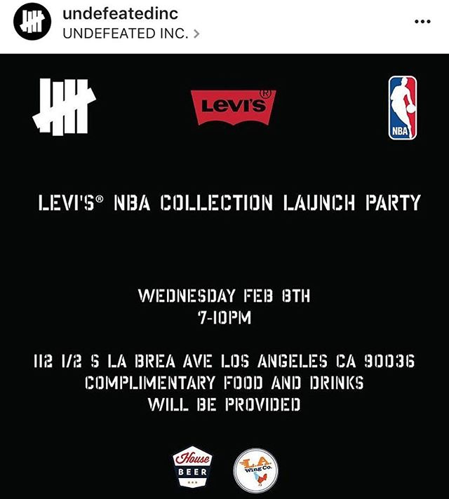 @LaWingCo x @Undefeatedinc x @levis x @nba COLLABORATION EVENT TONIGHT @ 112 1/2 S. La Brea in LOS ANGELES from 7-10 pm to celebrate the NEW NBA line from UNDFTD x Levi's!!! 🔥🔥🔥 If you want L.A. Wing Co. at your next PRIVATE EVENT or GATHERING...give us a call ☎️(323) 739-4104📞 💻 E-mail us @ info@LAWingCo.com💻 or visit our WEBSITE @ LAWingCo.com for more information!!!! #LaWingCo #wings #UNDFTD #yum #food #fried #foodie #foodporn #foodtruck #Instafood  #bww #streetfood #gourmet #hotsauce #hotwings #LosAngeles #chef #LATimesFood #chicken #chickenwings #bestwings #buffalosauce #buffalowings #nomnom #munchies #aintnothang #foodstagram #NBA #BestWingsInLA