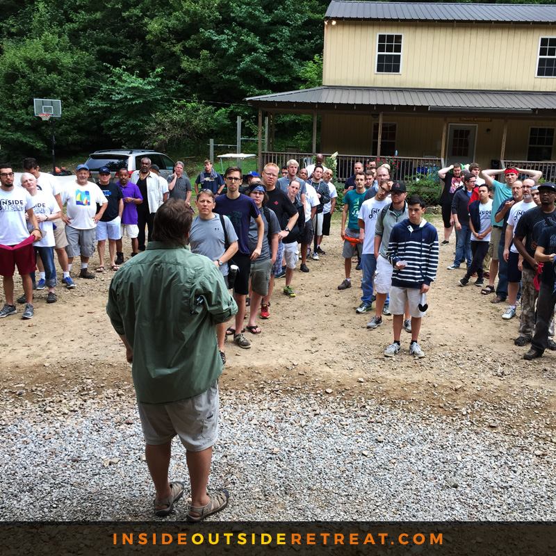 Bob Hemenger rallies the troops for their final task on the last morning.