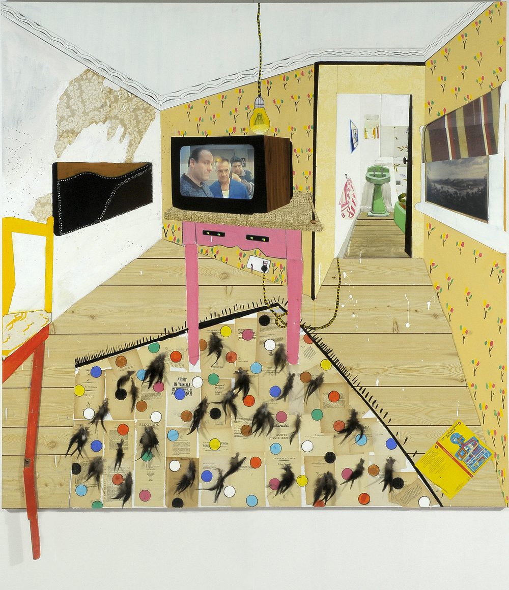In the fun house,  2008 Mixed media 180 x 180cm