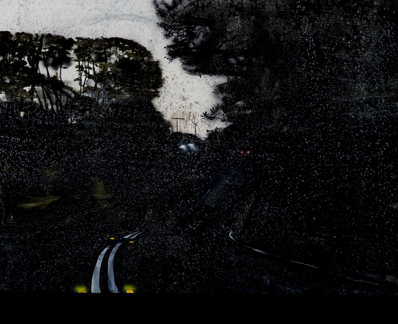 Untitled,  2013 Acrylic, oil and automotive enamel on linen 150 x 120cm
