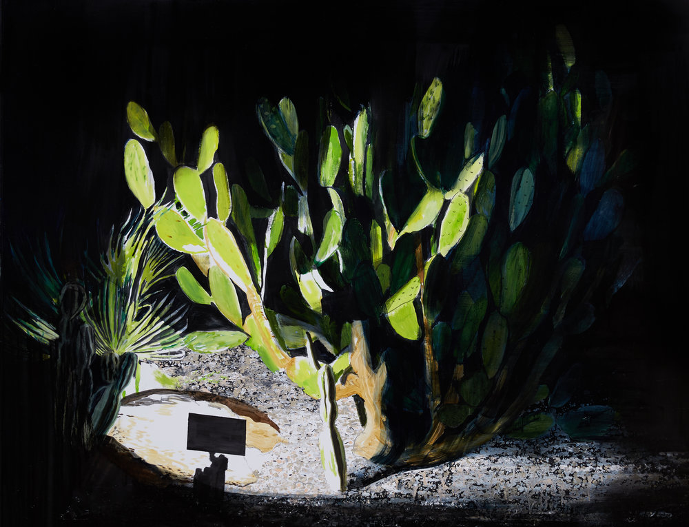 Cactus, Ibiza  Acrylic, oil and enamel on linen 120 x 150 cm