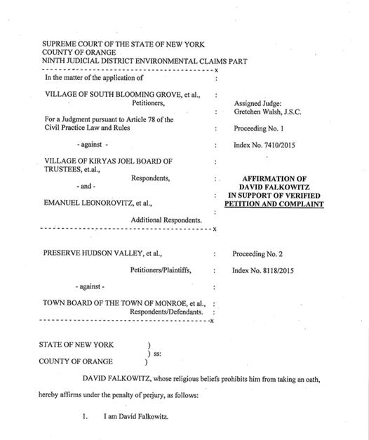Falkowitz Affidavit