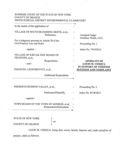 Cerqua Affidavit