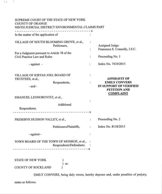 Convers Affidavit