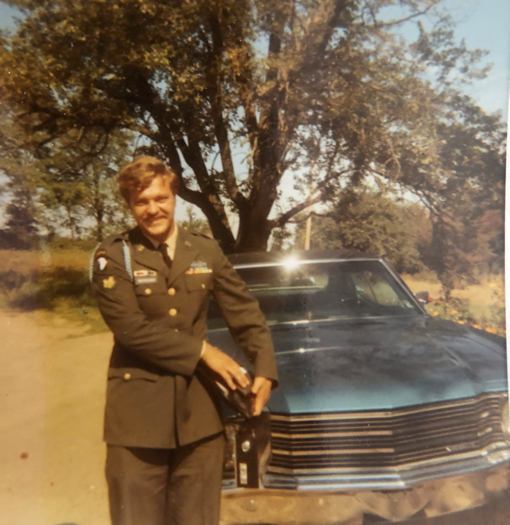 "My Uncle ""Smitty"" Clair, home from Vietnam."