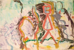 Larry Poons, Untitled, c.1992, monotype, 15x22 1/4 inches
