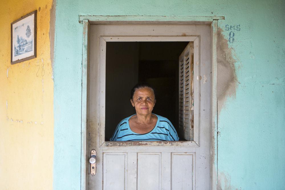 Assentamento Maria da Paz, RN, 15 de outubro de 2015 - Maria de Fátima, merendeira da Escola Municipal Maria da Paz. (©Greenpeace/Otávio Almeida)