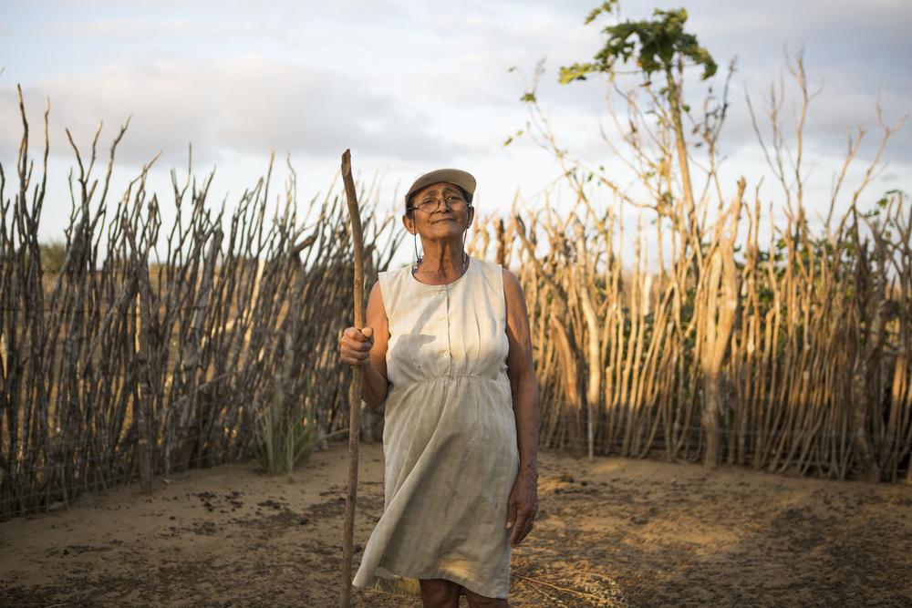 Assentamento Maria da Paz, RN, 15 de outubro de 2015 - Benedita de Sousa, criadora de cabras. (©Greenpeace/Otávio Almeida)