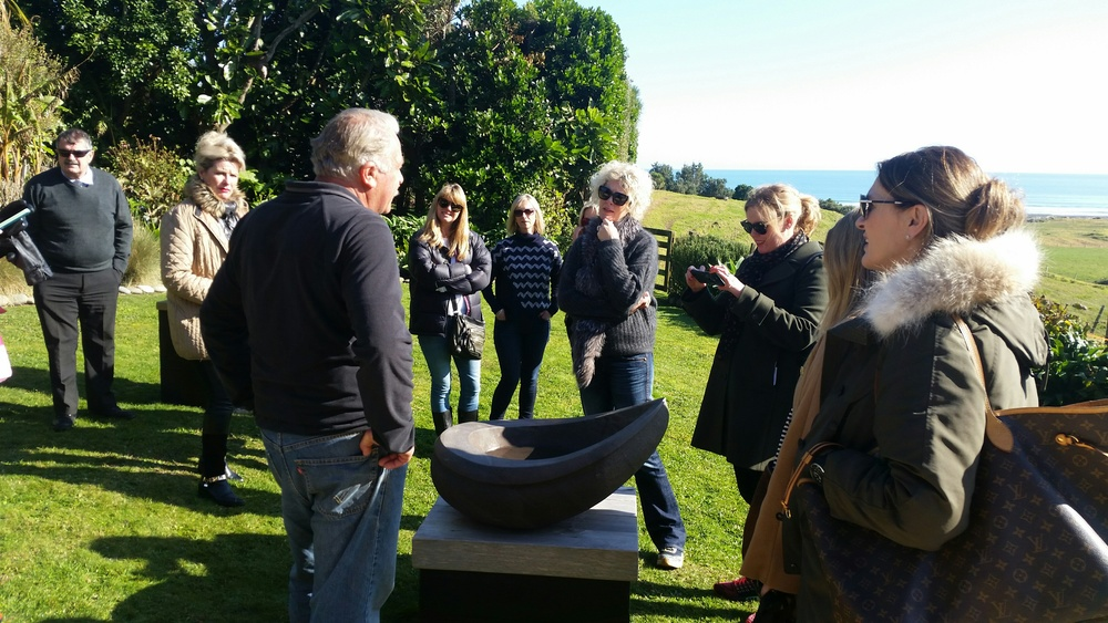 Howard Tuffery talking about his work with an Auckland group on tour