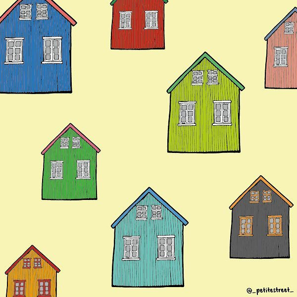 Today I found myself daydreaming the coloured wooden houses in Iceland 🇮🇸