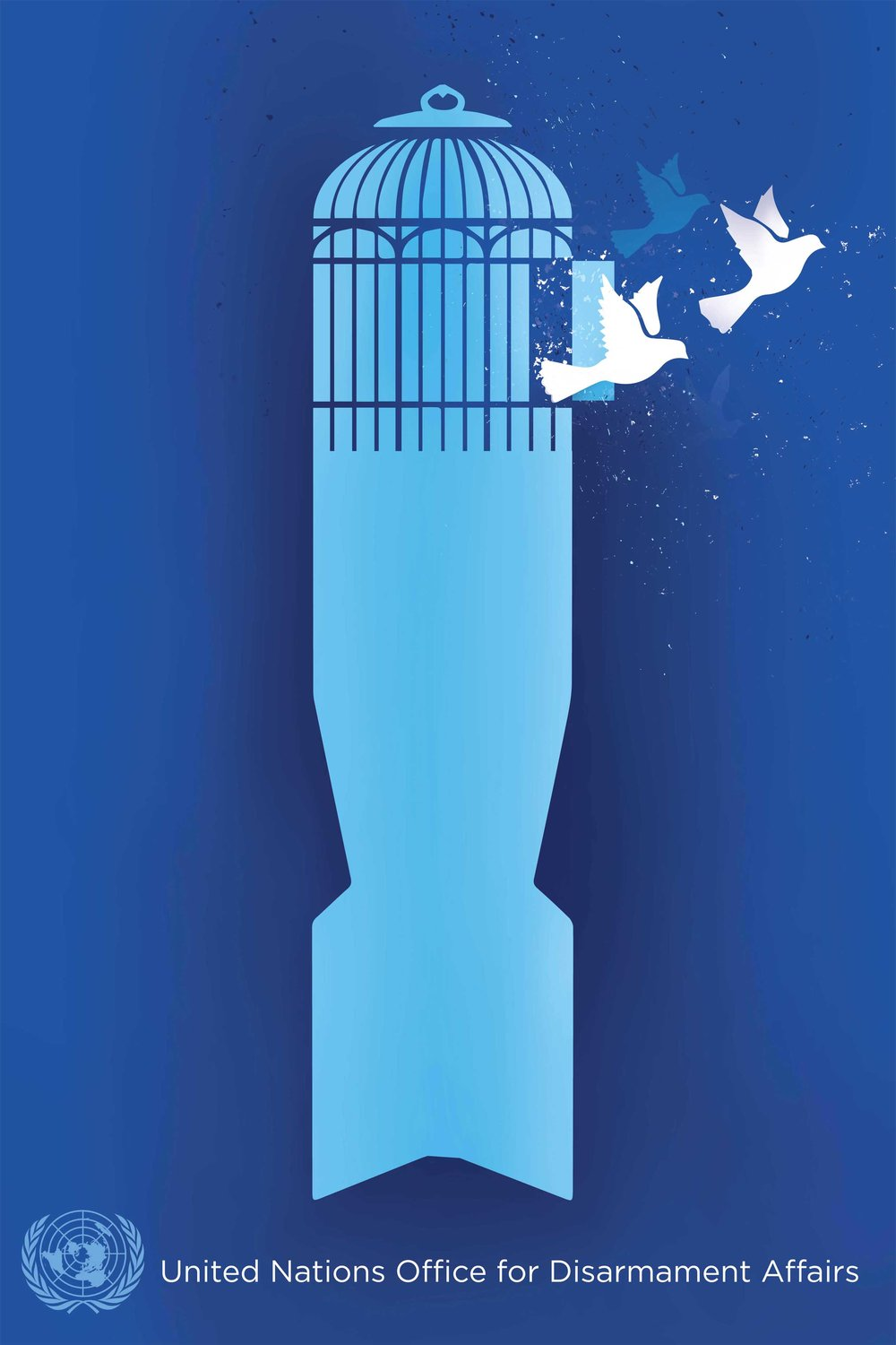 Break Free   The United Nations Office for Disarmament Affairs sponsored the UN Poster for Peace Contest, in commemoration of the 70th anniversary of the first UN General Assembly resolution, which established the goal of eliminating nuclear weapons and all other weapons of mass destruction. The contest aimed to raise awareness for the need for nuclear disarmament and to inspire citizens across the globe to add their voices, and use their artistic talents, to promote a world free of nuclear weapons.