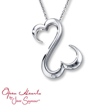 Open Hearts by Jane Seymour® Necklace The signature open hearts design takes center stage in this picturesque necklace for her. Styled in sterling silver.