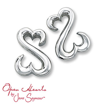 Open Hearts by Jane Seymour® Iconic Earrings    The iconic Open Hearts design creates inspiring style in these sterling silver earrings for her. Additional Open Hearts dance along the side of the earrings for added appeal.