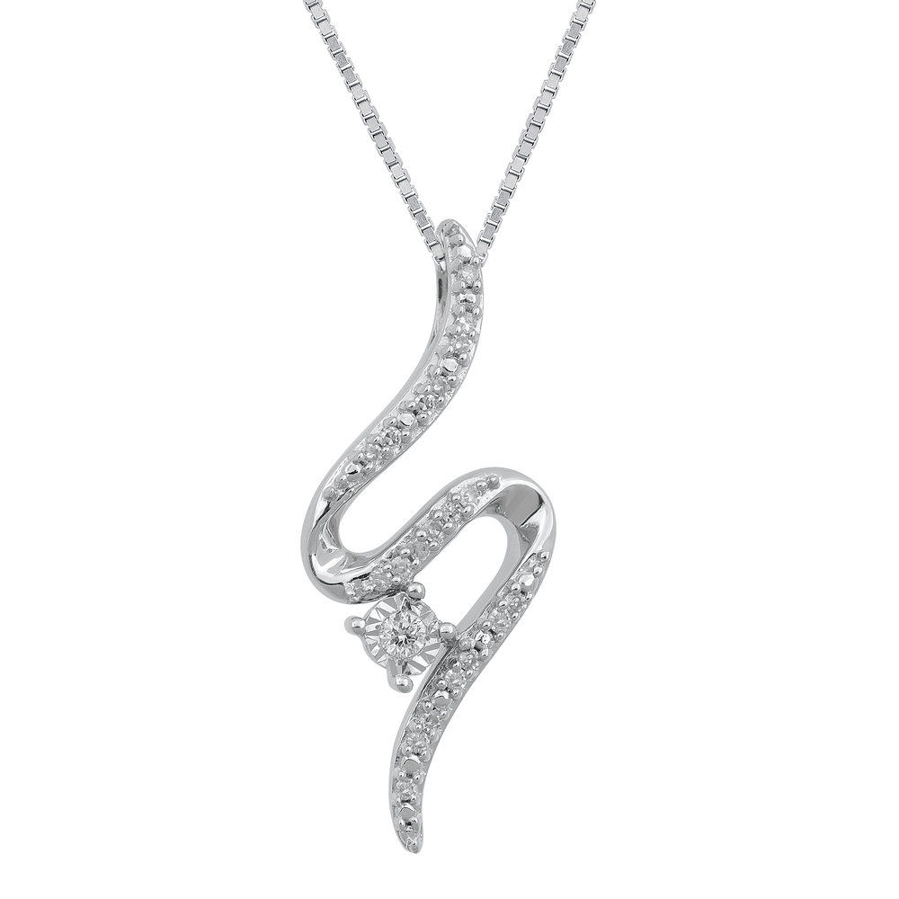 Open Hearts Road Ahead Diamond Necklace 1/4 ct tw 10K G