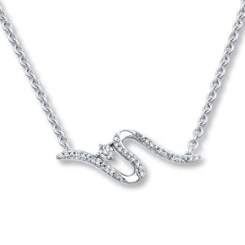 38bb0d9a9 Open Hearts Road Ahead Diamond Necklace 1/4 ct tw 10K Gold