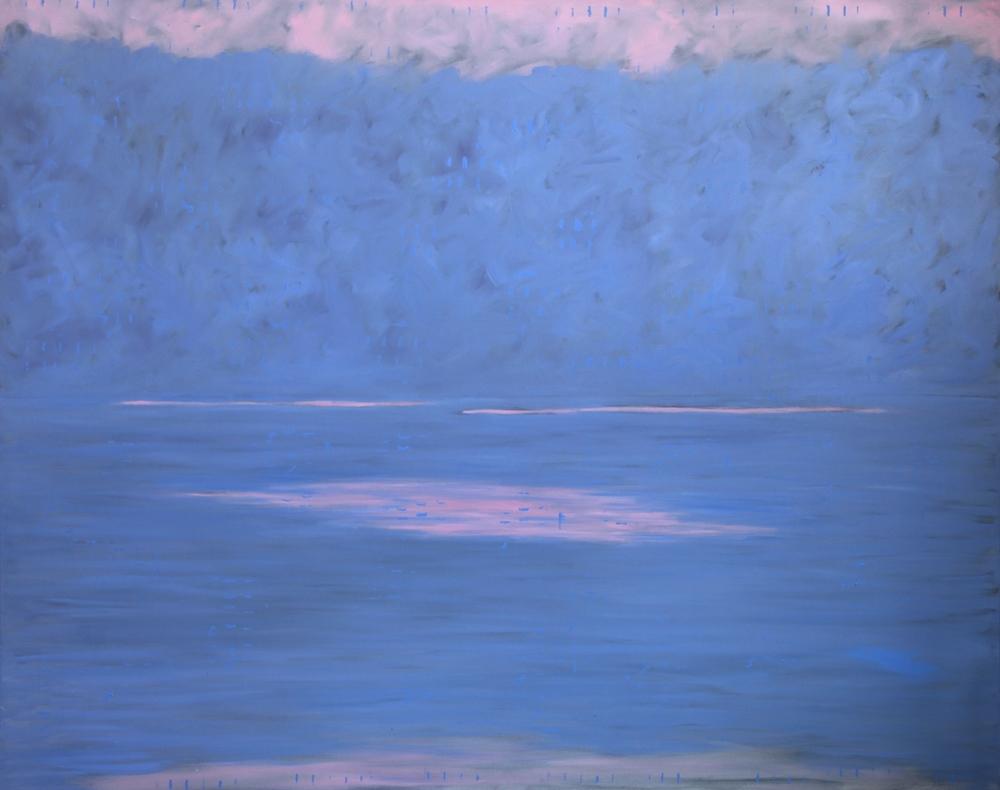 """Sunset   oil on canvas  48"""" x 60""""  1995  $6,000"""
