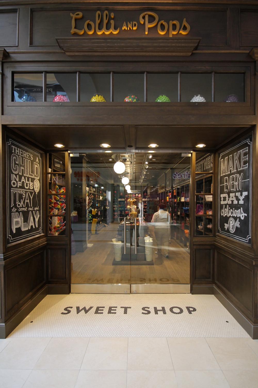 Custom chalk designs for candy shop