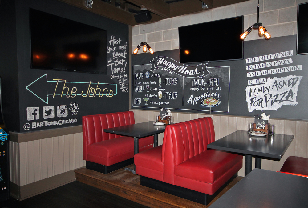 Large-scale chalk art installation for Bar Toma