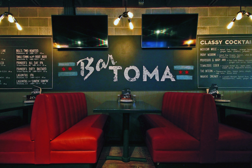 Chalk installation for Bar Toma