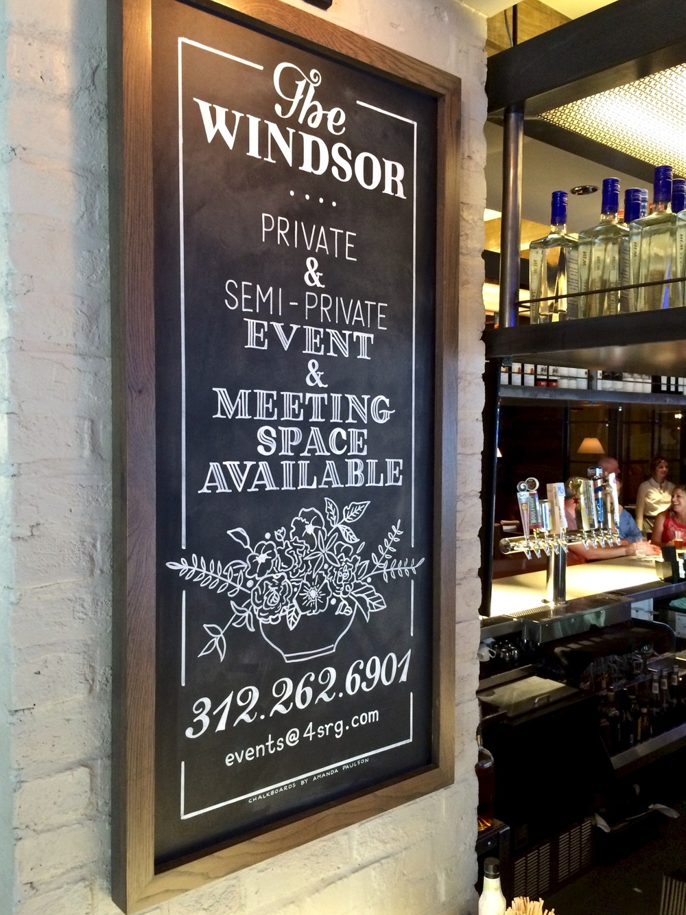 Chalk menus for The Windsor