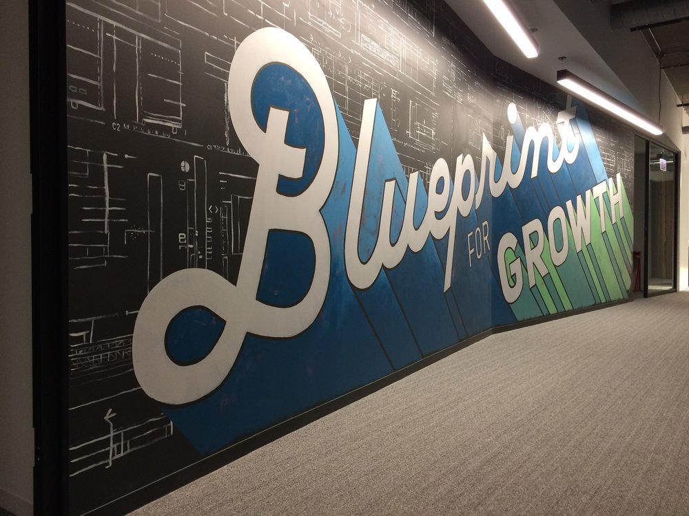 Skender Blueprint for Growth mural by Amanda Paulson