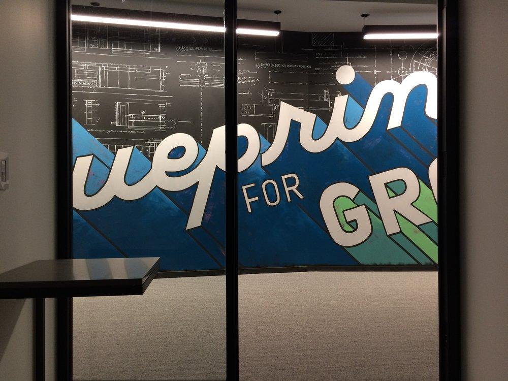 Skender Blueprint for Growth mural by Amanda Paulson