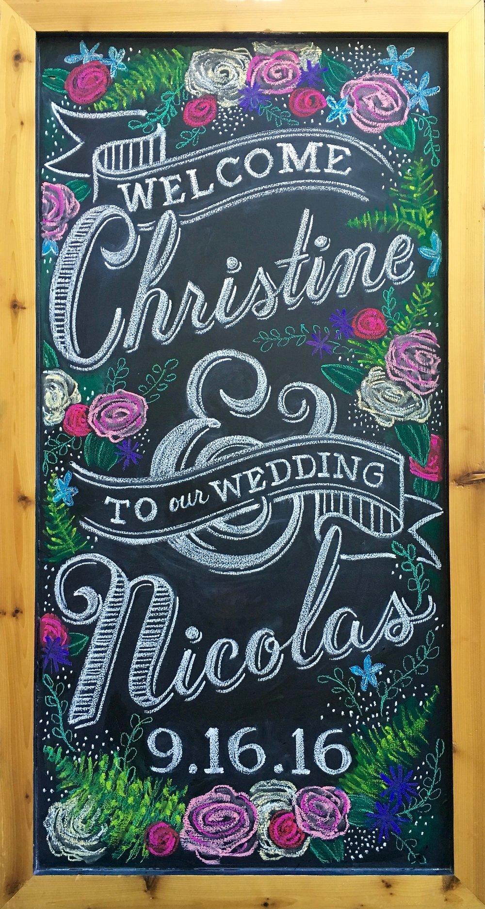 Amanda Paulson Art Wedding Welcome Chalkboard