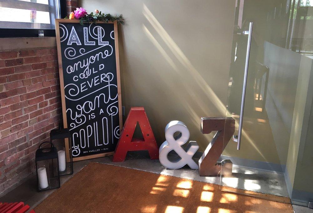Amanda Paulson Art Weddings Welcome Quote Chalkboard