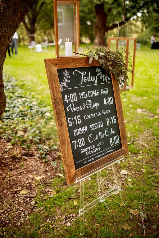 Amanda Paulson Art Wedding Rustic Event Timeline Chalkboard