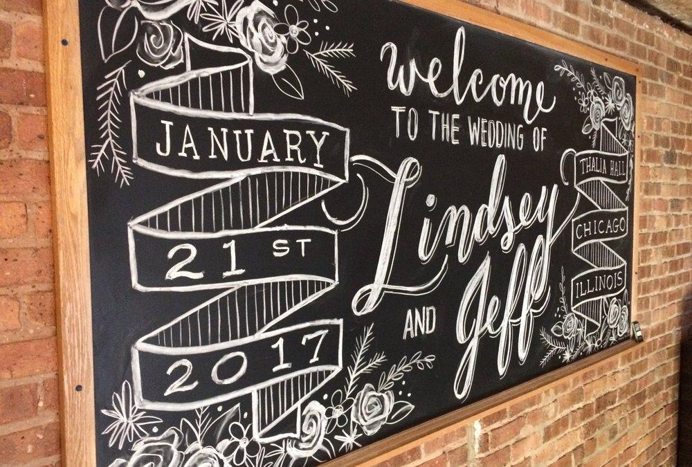 Amanda Paulson Art Weddings Welcome Chalkboard